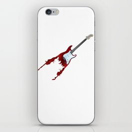Electric guitar red music rock n roll sound beat band gift idea iPhone Skin