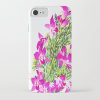 singapore iPhone & iPod Cases featuring Singapore Orchids by marlene holdsworth