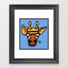 king giraffe Framed Art Print