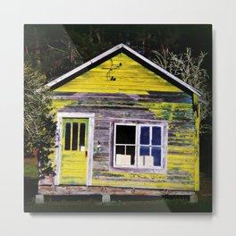 Coastal Home on Cinder Block Metal Print