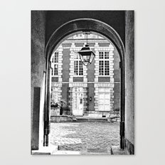 End of the Tunnel B&W Canvas Print