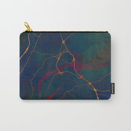 Chattanooga Tennessee Street Map Art Watercolor Dark Days Carry-All Pouch