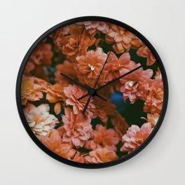 Kalanchoe Red Variation Wall Clock