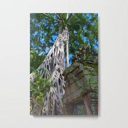 Temple Banyan Tree Metal Print
