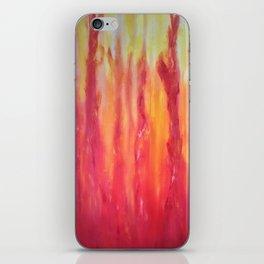 Watching the flames dance iPhone Skin