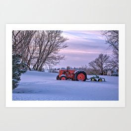 Case and Plow Art Print