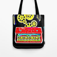 piano Tote Bags featuring Piano by Silvio Ledbetter