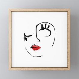 Tear Drop Framed Mini Art Print