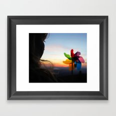 I'd like to think that maybe... Framed Art Print