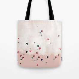 Hotair balloons with sweet cotton candy Tote Bag