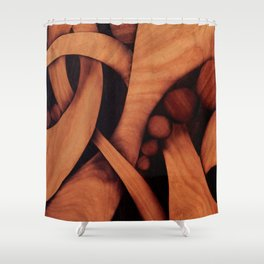 Abstract fantasy marquetry art picture Shower Curtain