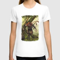 Berenn the Archer SMALL Womens Fitted Tee White