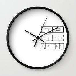 NoFreeDesign Wall Clock