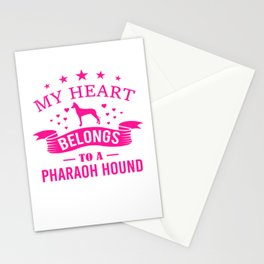 My Heart Belongs To A Pharaoh Hound mag Stationery Cards