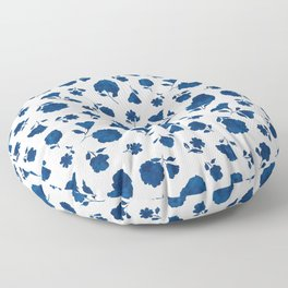 Medium Indigo Shadow Bloom Floor Pillow