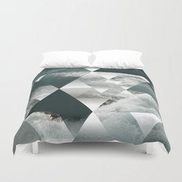 Waves polygon Duvet Cover