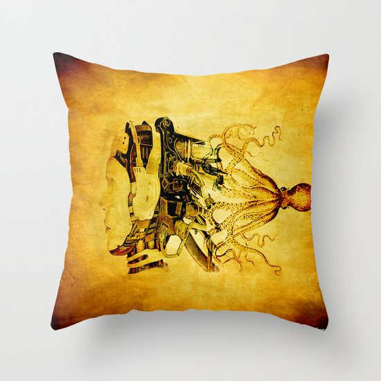 Taken by the octopus Throw Pillow