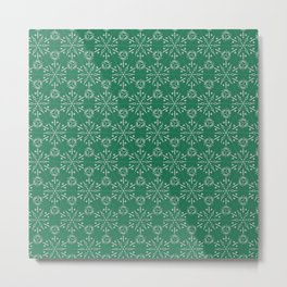 Hexagonal Circles - Emerald Metal Print