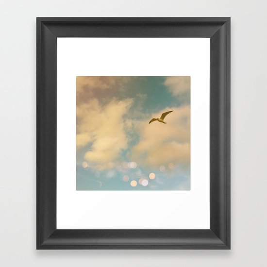 The Lost Gull Framed Art Print