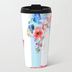Floral World Stripe Travel Mug