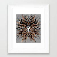 pagan Framed Art Prints featuring Pagan mandala by Renars