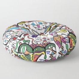 Rainbow Brain Floor Pillow