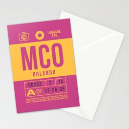 Luggage Tag B - MCO Orlando USA Stationery Cards