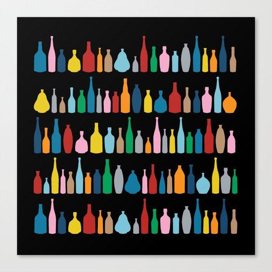Black Bottle Multi Canvas Print