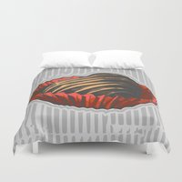 valentine Duvet Covers featuring Valentine by Katy V. Meehan