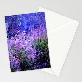 Purple long grass Stationery Cards