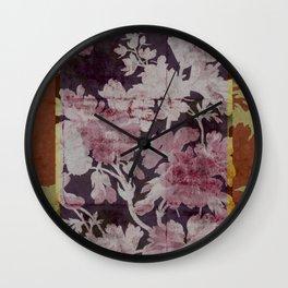 geranium border Wall Clock