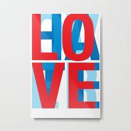 Love Over Hate Metal Print