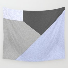 Gray , blue , patchwork Wall Tapestry
