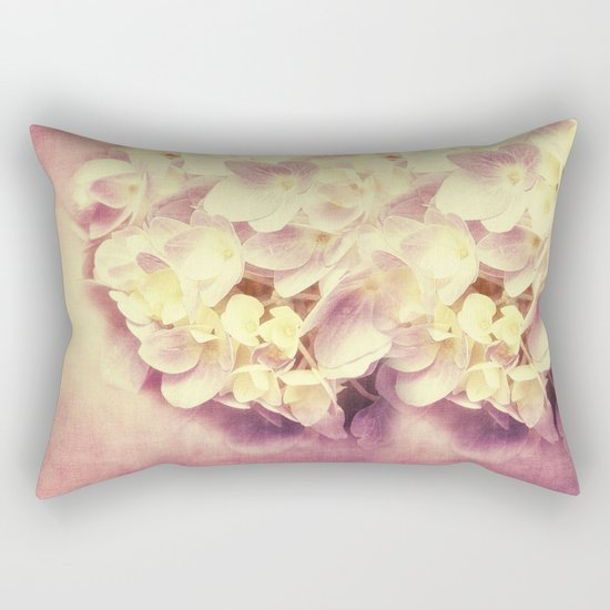 HYDRANGEA IN VANILLA AND PINK Rectangular Pillow