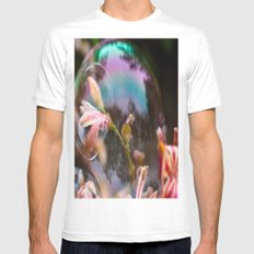 Bubbles White Mens Fitted Tee 2X-LARGE