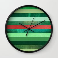 watermelon Wall Clocks featuring Watermelon by Elisabeth Fredriksson