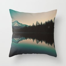 Morning Mountain Adventure Throw Pillow