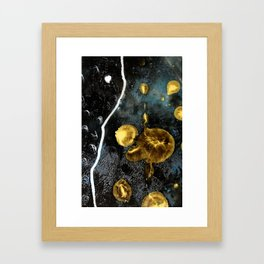 gold dark matter Framed Art Print