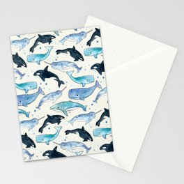 Whales, Orcas & Narwhals Stationery Cards