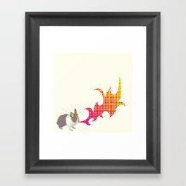 Rabbit King Framed Art Print