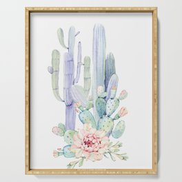 Mixed Cacti 2 #society6 #buyart Serving Tray