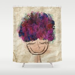 Inspiration explosion Shower Curtain