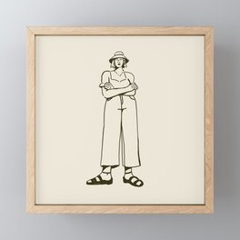 Character III Framed Mini Art Print