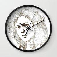 ripley Wall Clocks featuring Ellen Ripley sketch- Sigourney Weaver- Alien by Robin Stevens