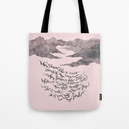 It Is Well With My Soul -pink&grey Tote Bag