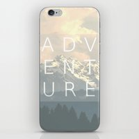 adventure is out there iPhone & iPod Skins featuring ADVENTURE by SUNLIGHT STUDIOS  Monika Strigel