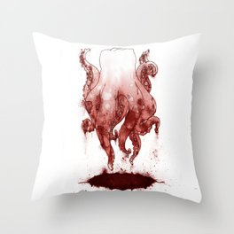 Tooth Tentacles Throw Pillow