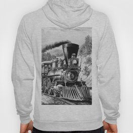The Express Train: Currier & Ives 1870 Hoody