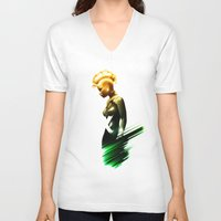 storm V-neck T-shirts featuring Storm by Luke