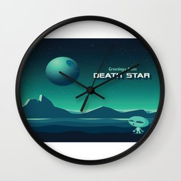 Greetings From Death Star Wall Clock